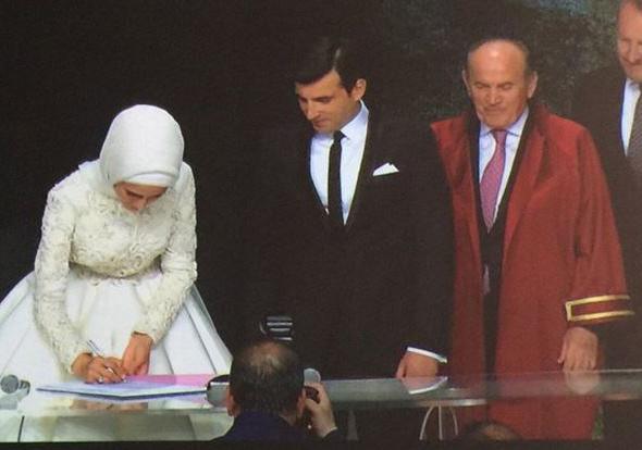 Sümeyye Erdoğan ve Selçuk Bayraktar'ın düğününden ilk kareler