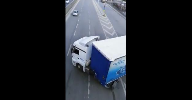 Şile otobanındaki zincirleme trafik kazası bu kadar da olmaz dedirtti!