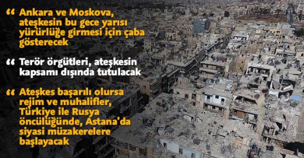 Türkiye ve Rusya, Suriye'de genel ateşkes planında anlaştı