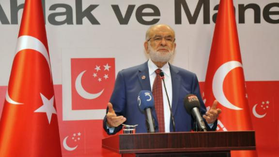 """Saadet Partisi Lideri Karamollaoğlu, """"Anayasa değişikliğine bu haliyle destek vermeyiz"""""""