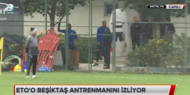 Samuel Eto'o Beşiktaş antremanını izledi