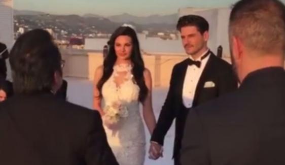 Tolgahan Sayışman ve Almeda Abazi, Los Angeles'ta evlendi