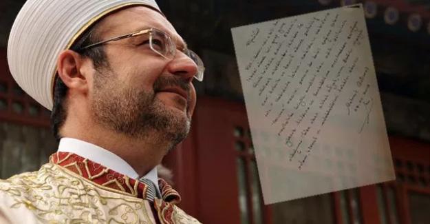 Diyanet İşleri Başkanı Mehmet Görmez'in FETÖ'yü öven mektubu ifşa edildi