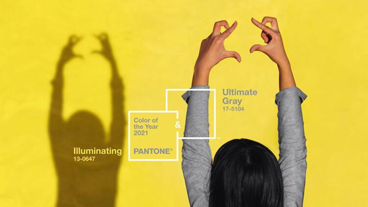 Pantone 2021 rengi olarak ultimate gri ve canlı sarıyı açıkladı