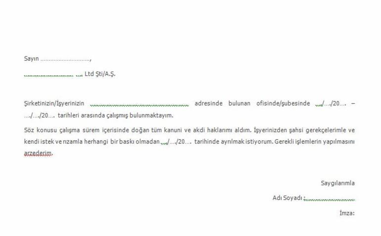 İstifa Dilekçesi Nasıl Yazılır 2021 İstifa Dilekçesi Örneği (Word Ve Pdf Formatında)