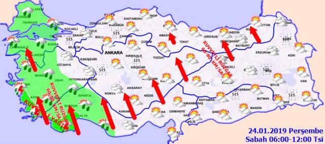 Meteoroloji'den İstanbul için son dakika sağanak yağış uyarısı! 24 Ocak Perşembe hava durumu1
