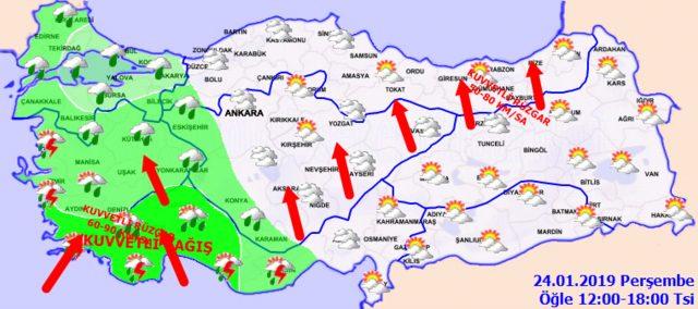 Meteoroloji'den İstanbul için son dakika sağanak yağış uyarısı! 24 Ocak Perşembe hava durumu2