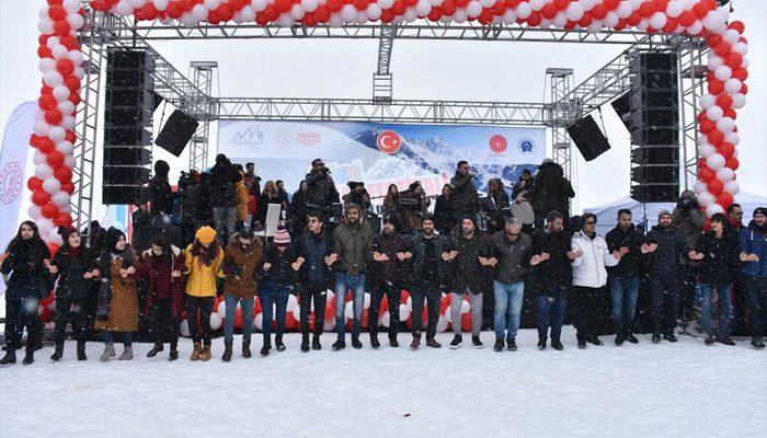 2 bin 800 rakımda kar festivali düzenlendi