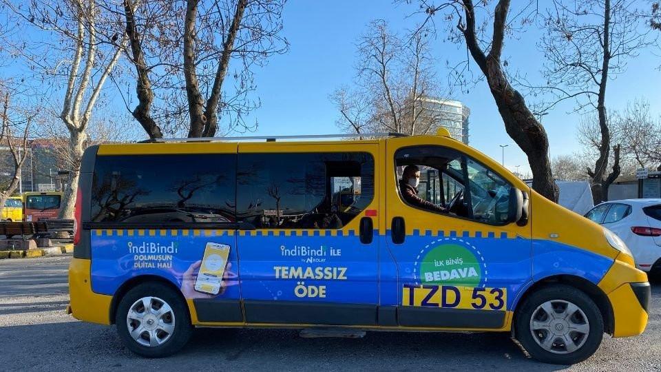 200 dolmuş tarafından kullanılan indiBindi mobil uygulaması yakın zamanda taksilerde de kullanılacak