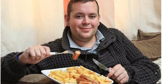 4 yaşından beri sadece sosis ve patates yiyen adam!