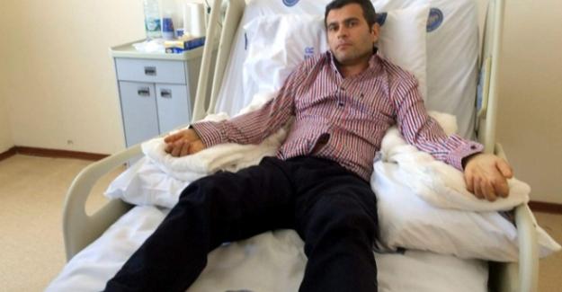Çift kol nakli yapılan Mustafa Sağır memleketinde