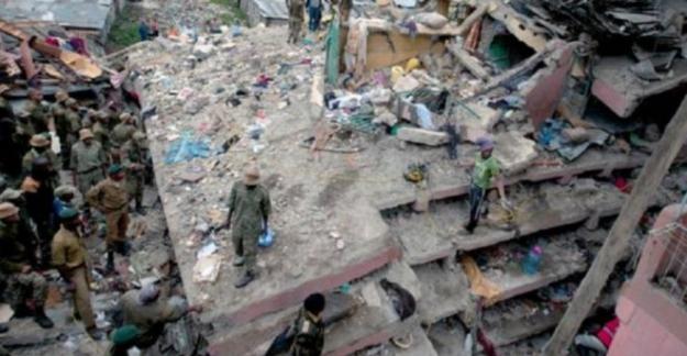 Kenya Nairobi'de yedi katlı bir bina çöktü... 18 kişi öldü