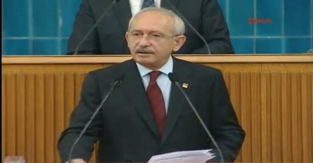 Kılıçdaroğlu CHP Grup Toplantısı'nda Konuşuyor