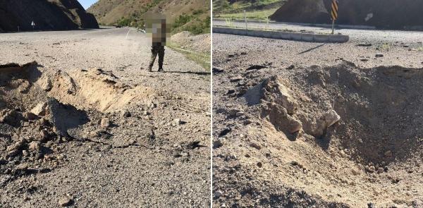 Lice'de yola tuzaklanan 300 kilogram patlayıcı imha edildi