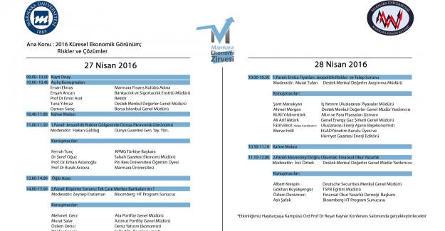 Marmara Ekonomi Zirvesi 27-28 Nisan'da İstanbul'da