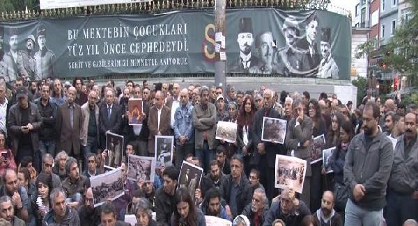 1938 yılında Tunceli'de ölenler için Beyoğlu'nda anma...