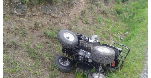 ATV uçuruma yuvarlandı :1 Ölü, 1 Yaralı