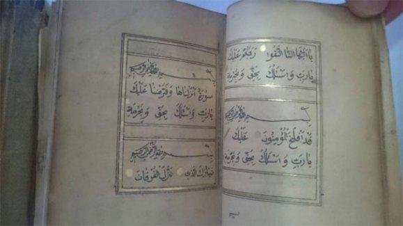 Bodrum ilçesinde ele geçirilen Kur'an 739 yıllık çıktı