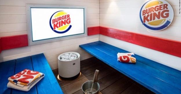 Burger King'te Sauna Keyfi