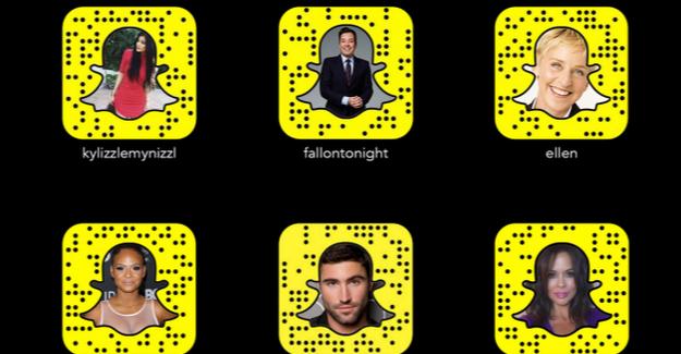 Dünyaca ünlü kişileri her anından haberdar olmak için Snapchat'le!