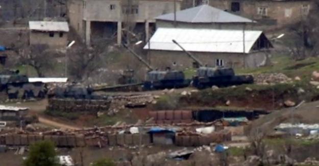 Hakkari'de 34. Hudut Bölük Komutanlığı taciz ateşi açıldı