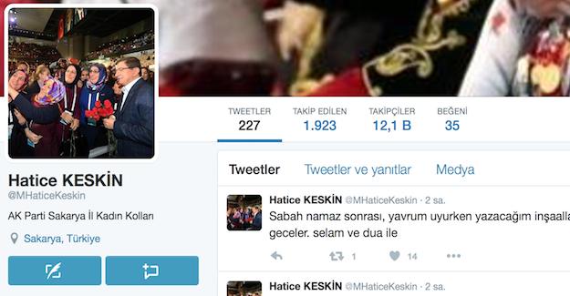 AK Parti'li Hatice Keskin Twitter'dan açıklama yapacağını duyurdu