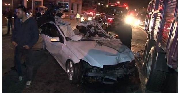 İstanbul'da ki korkunç kazada iş adamı hayatını kaybetti