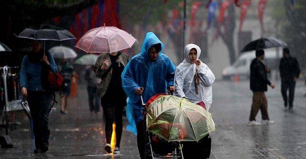 Meteoroloji''den sağanak yağış uyarısı!