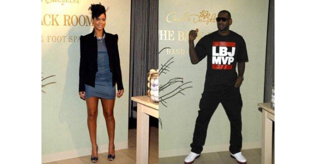 Rihanna'dan Lebron James'e tebrik pozu
