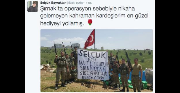 Selçuk Bayraktar'dan askerlerin nikah mesajına cevap twitter'dan cevap geldi