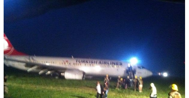 THY uçağı Priştina'da pistten çıktı