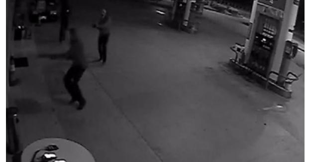 Akaryakıt istasyonuna saldırı