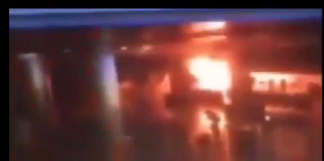 Atatürk Havalimanı saldırısı kameralara böyle yansıdı - Patlama görüntüleri!