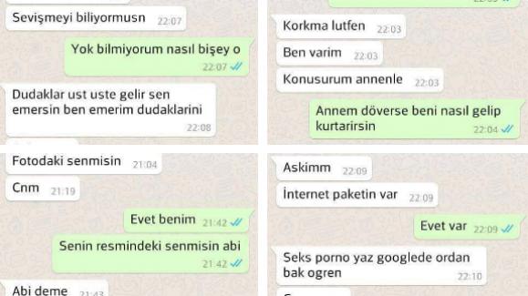 Çocuk tacizcisinin Whatsapp konuşmaları yayınlandı