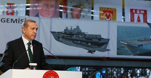 Erdoğan'dan 'milli uçak gemisi' açıklaması