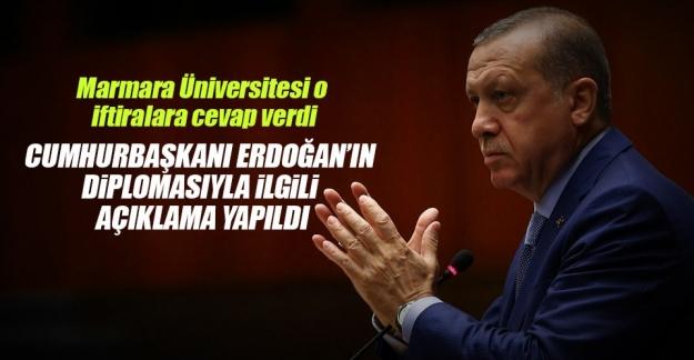 Marmara Üniversitesi'nden Cumhurbaşkanı Erdoğan Açıklaması