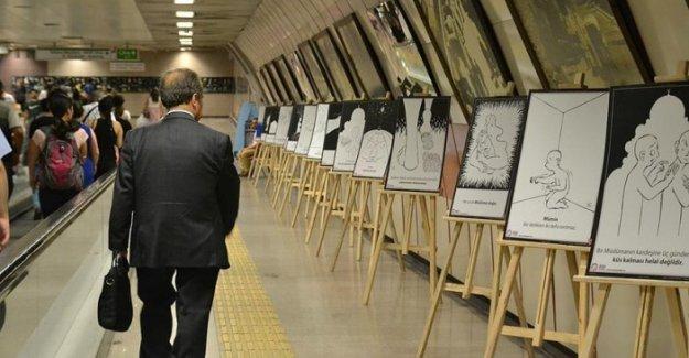 Taksim metrosunda 'Çizgilerle 40 Hadis'' sergisi açıldı