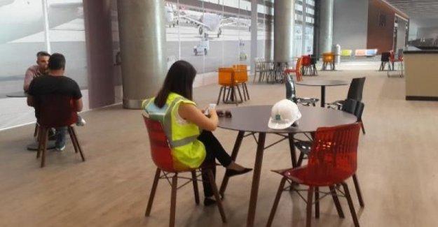 Üçüncü havalimanının ilk yolcu salonu tamamlandı