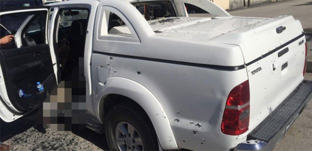Van'da PKK'lı teröristlerin kullandığı araç belediyenin çıktı!