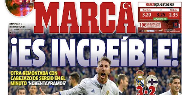 Marca gazetesi ve Sergio Ramos'tan Türkiye'ye destek