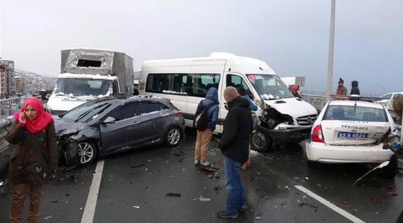 Rize'de 15 araç birbirine girdi, 2'si ağır 10 yaralı