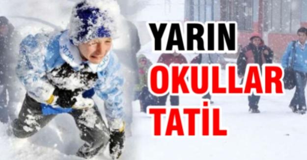 İstanbul'da okullara kar tatili! Vali Şahin açıkladı