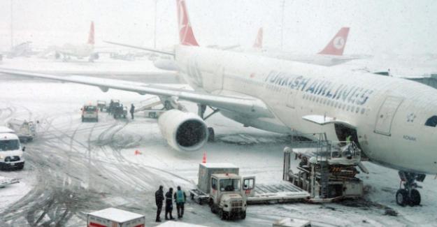Kar muhalefeti nedeniyle THY 277 seferini iptal etti