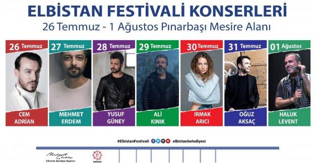 26 Temmuz Elbistan Festivali başlıyor