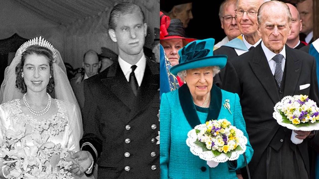 72 yıllık eşini kaybeden Kraliçe Elizabeth'in son görüntüsü dikkat çekti