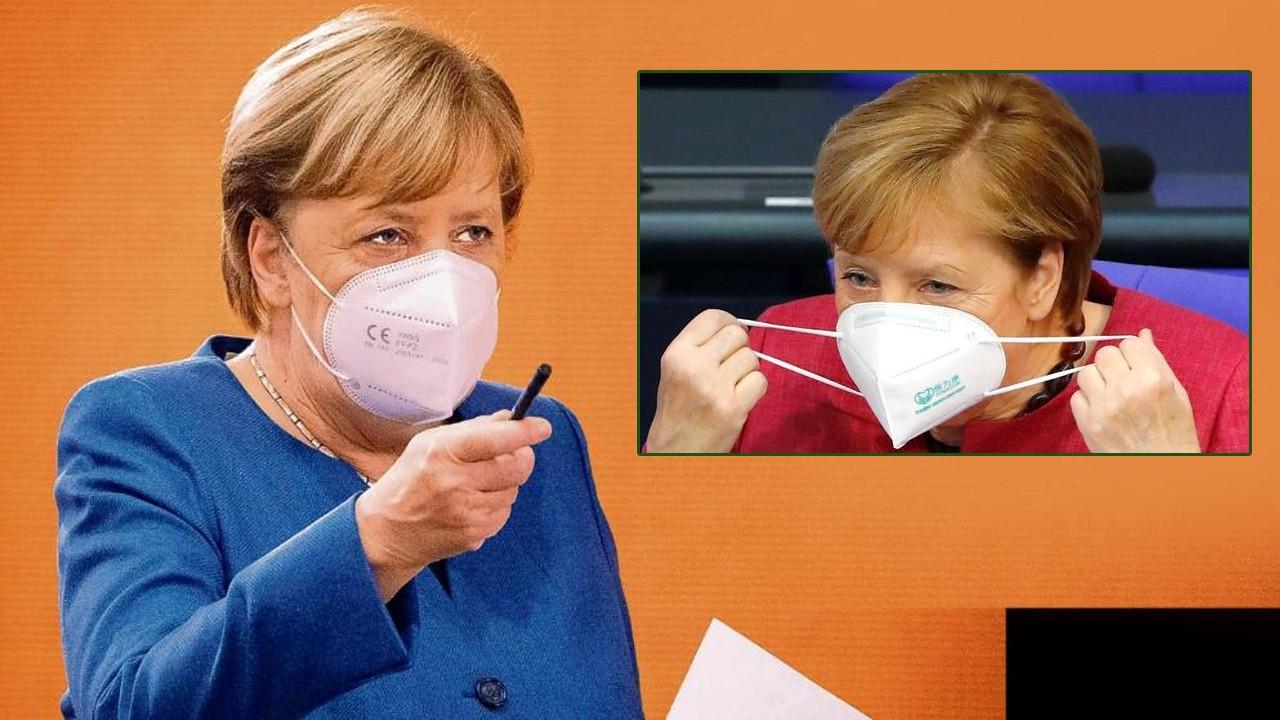 Angela Merkel'in Corona virüsü maskesi sahte çıktı!