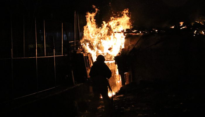 Ankara'da gecekondu yangını: 5 yavru köpek telef oldu