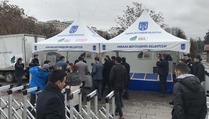 Ankara'da ilk tanzim satış çadırları kuruldu