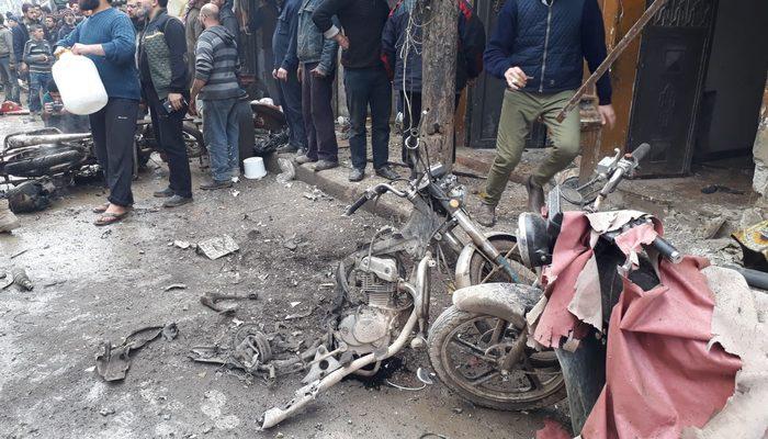 Bab'da bomba yüklü motosiklet patladı: 8 sivil yaralandı