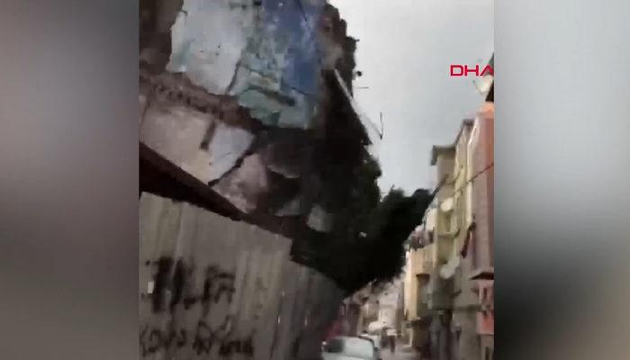 Balat'taki 4 katlı binanın çökme anı kamerada